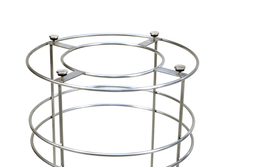 Stainless Steel Trash Chameleon modern Trash Bin frame by DeepStream Design